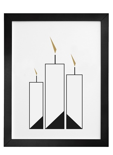 Nordbagen Candle Poster Siyah
